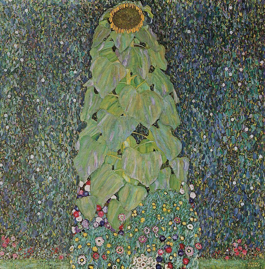 Country Garden With Sunflowers, 1904 by Gustav Klimt