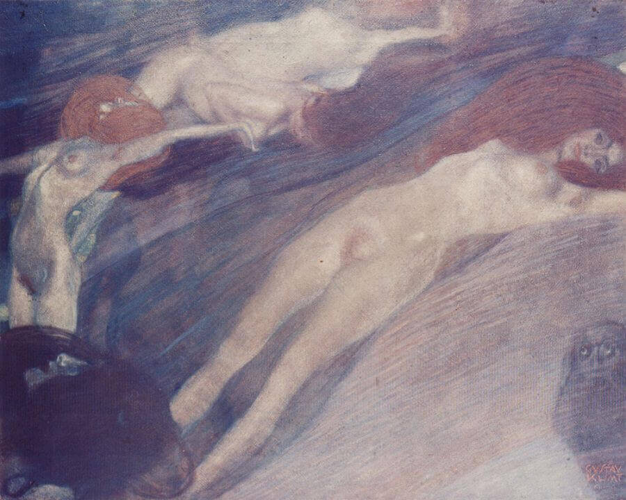 Mermaids, 1899 by Gustav Klimt