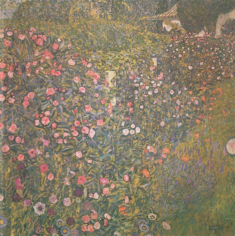 Garden of Flowers, 1917 by Gustav Klimt