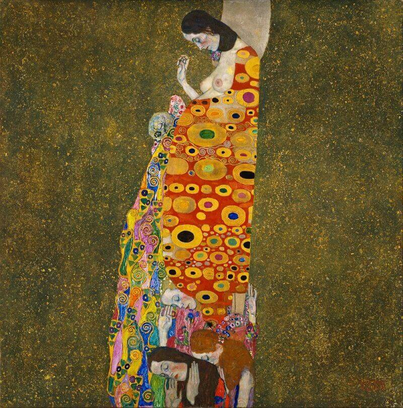 Hope II, 1907 by Gustav Klimt