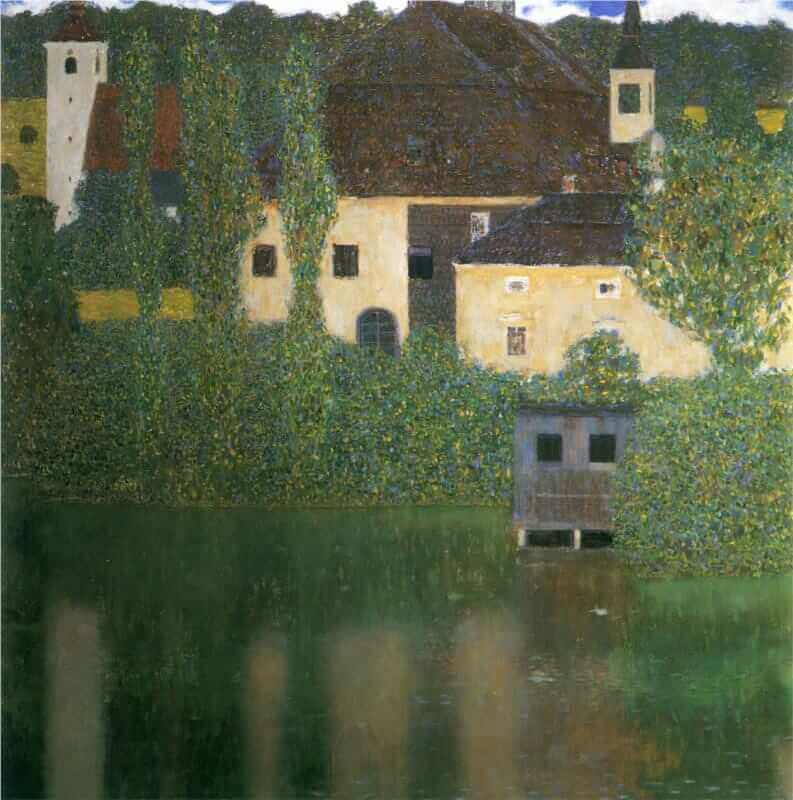 Schloss Kammer at Lake Atter, 1908 by Gustav Klimt
